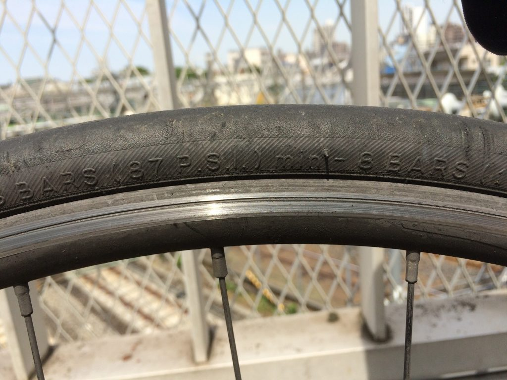 自転車のタイヤの空気圧